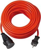 Brennenstuhl Bremaxx Verlängerungskabel (20 m Kabel, für kurzfristigen Einsatz im Außenbereich IP44) rot - 1