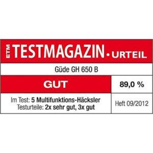 Benzin Häcksler Güde GB650B test